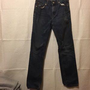 Boss Orange distressed skinny jeans men's Dk wash